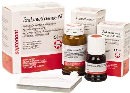Endomethasone N, набір, 1 порошок * 14 г + 1 рідина * 10 мл